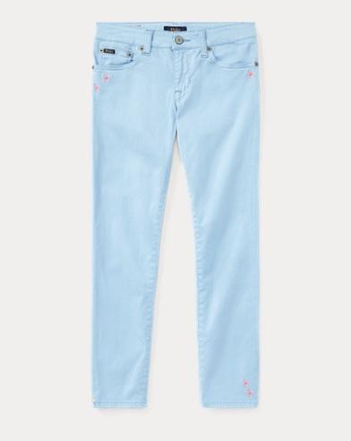 Skinny-Fit Jeans mit Stickerei