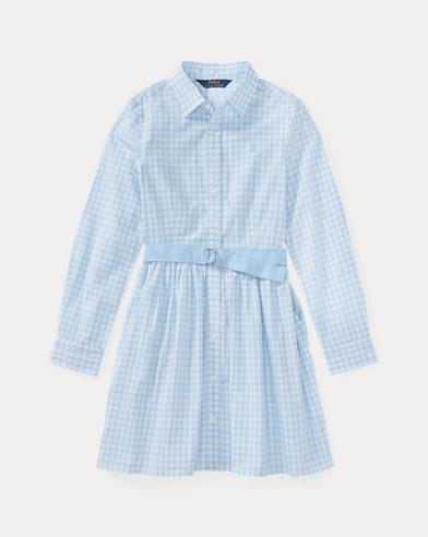 Gingham Poplin Shirtdress