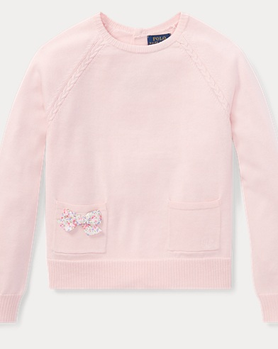 Bow-Back Cotton Sweater