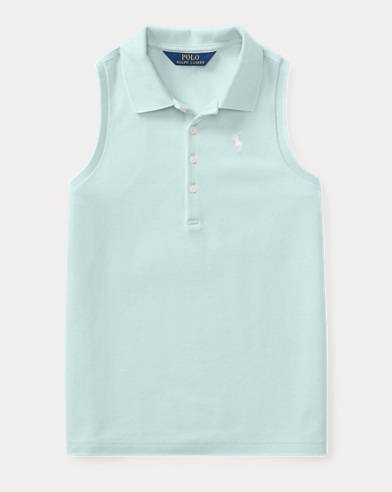 Stretch Mesh Sleeveless Polo