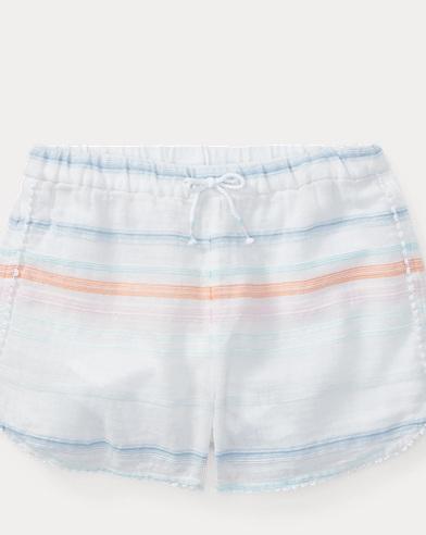 Short in cotone a righe