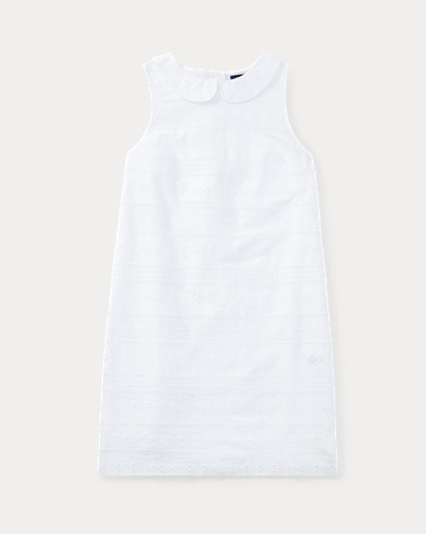 Eyelet Cotton Sleeveless Dress