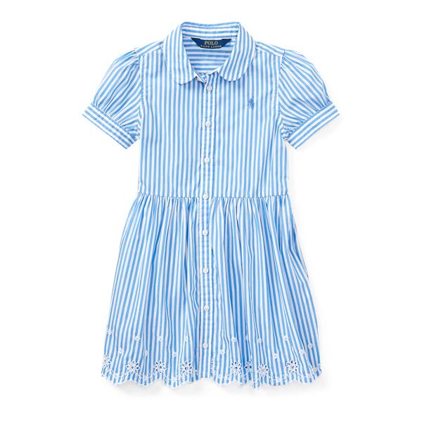 Ralph Lauren Striped Cotton Shirtdress Blue/White 4T