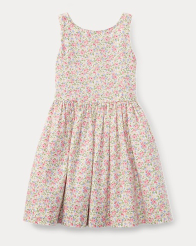 Floral Cotton Sleeveless Dress