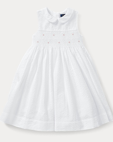 Smocked Seersucker Dress