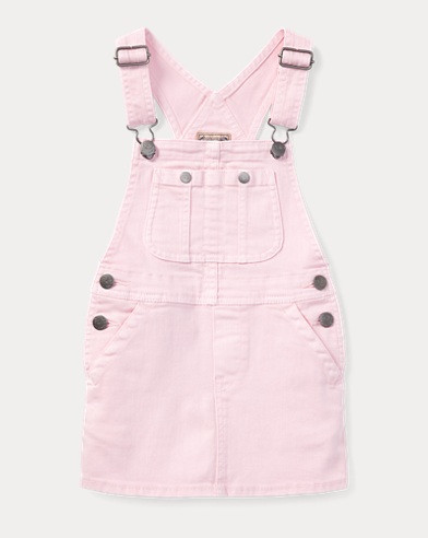 Stretch Denim Overall Dress