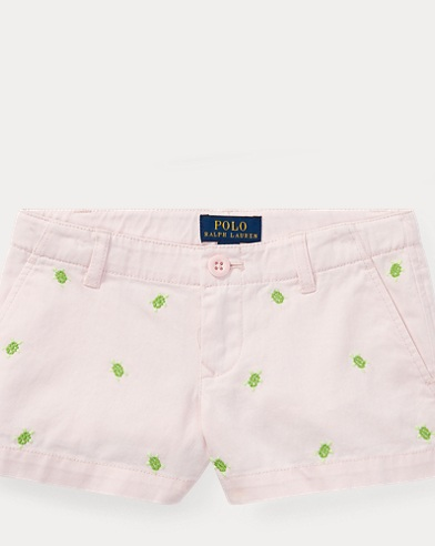 Turtle Cotton Chino Short