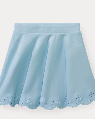 Scalloped Ponte Pull-On Skirt