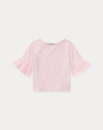 Eyelet-Cuff Jersey Top