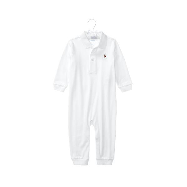 폴로 랄프로렌 Polo Ralph Lauren Cotton Interlock Polo Coverall,White