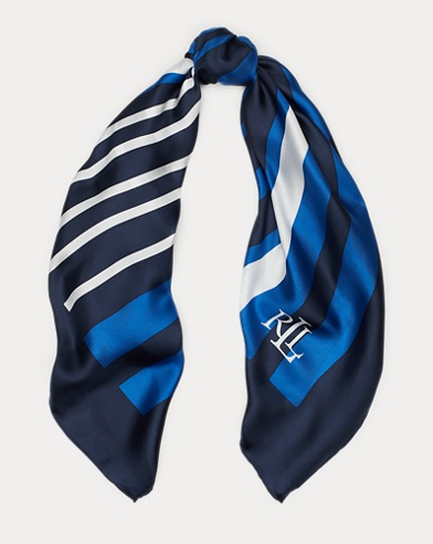Lydia Striped Silk Twill Scarf