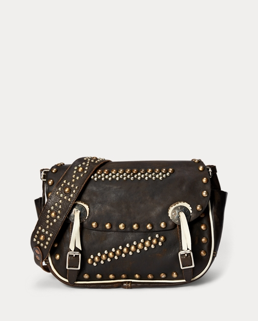 RRL Studded Leather Saddle Bag 1 8136b118383fb