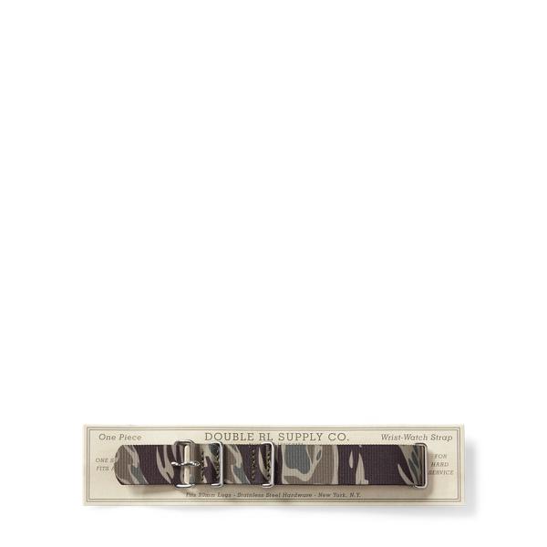 Ralph Lauren Camo Polyester Watch Strap Camo One Size