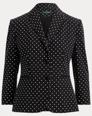 Polka-Dot Stretch Twill Jacket
