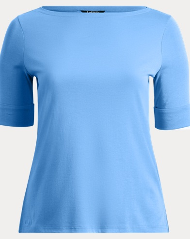 Cotton Boatneck T-Shirt