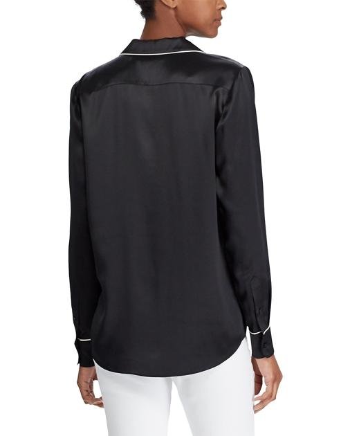 17df1e2a68 Lauren Silk Charmeuse Pajama Shirt 4