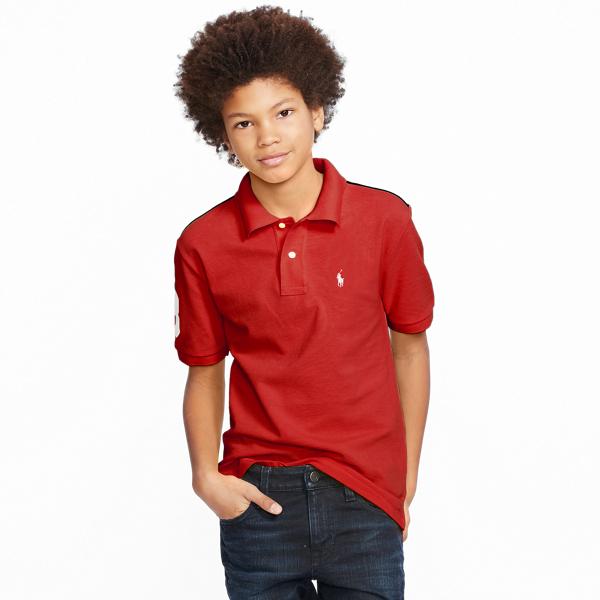 Ralph Lauren Color-Blocked Cotton Mesh Polo Rl Red Multi Xl