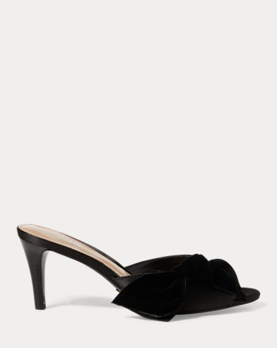 Genevie Velvet-Satin Sandal