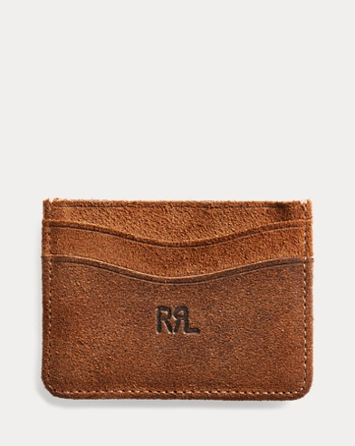 Mens wallets card holders keychains leather goods ralph lauren roughout suede card holder colourmoves