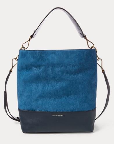 Nubuck Leather Hobo Bag