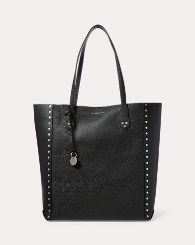Leather North/South Tote
