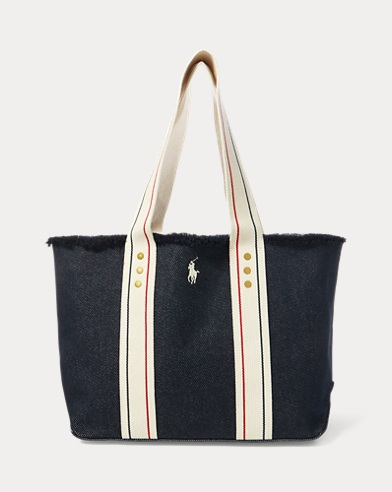 Frayed Canvas Medium Tote