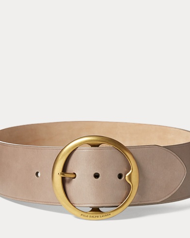 Cinturón ancho de piel vaqueta Lennox