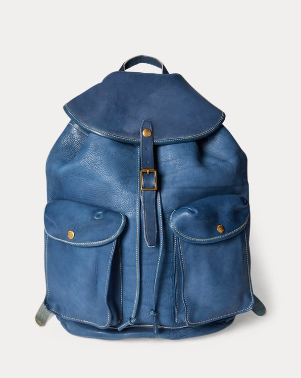 Indigo Leather Rucksack