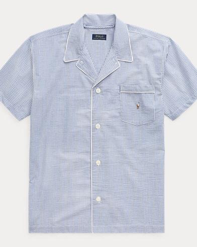 Cotton Seersucker Pajama Shirt