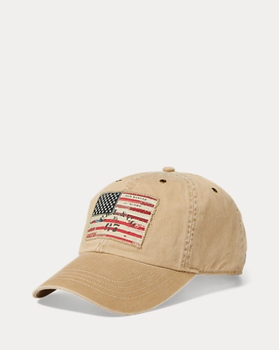 Casquette en chino patch drapeau