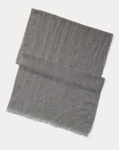 Linen-Cashmere Blend Scarf