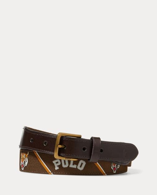 Polo Ralph Lauren Polo-Overlay Webbed Belt 1