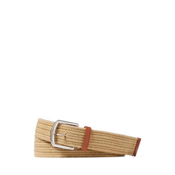 폴로 랄프로렌 Polo Ralph Lauren Braided Stretch Cotton Belt,Timber Brown