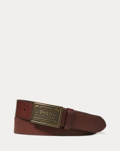 Cinturón Polo con hebilla de placa en metal