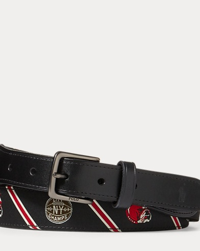 Dog-Overlay Webbed Belt