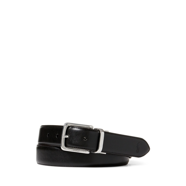 폴로 랄프로렌 Polo Ralph Lauren Reversible Vachetta Dress Belt,Black/Dark Brown