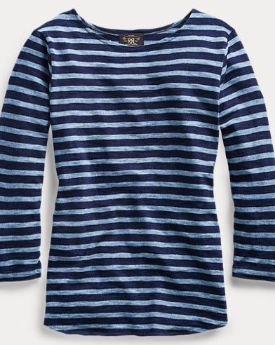 Striped Indigo Cotton Shirt