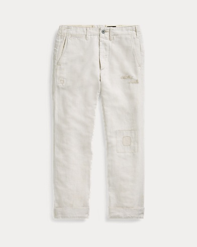 Relaxed Cotton-Linen Chino