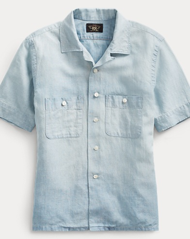 Hemd aus Baumwoll-Leinen-Chambray