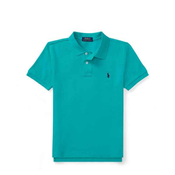 Ralph Lauren Custom Fit Cotton Mesh Polo Western Turquoise Xl