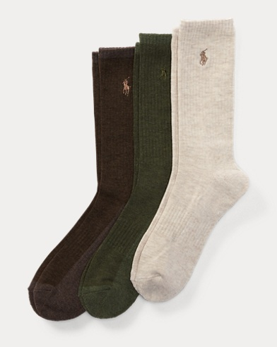 Heather Crew Sock 3-Pack