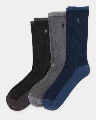 Heather Crew Sock 3-Pack