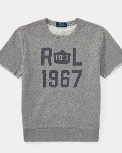 Cotton Short-Sleeve Sweatshirt