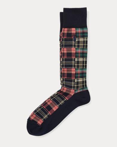 Madras Patchwork Trouser Socks