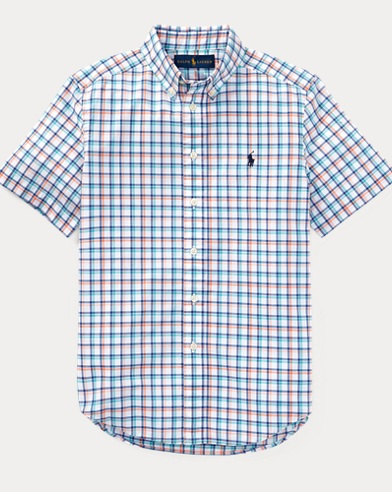 Plaid Stretch Cotton Shirt