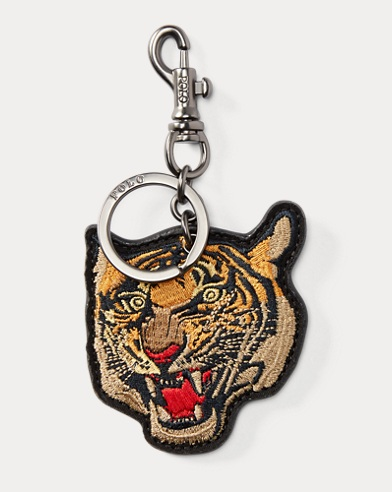 Tiger Leather Key Fob