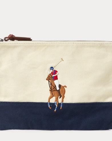 Pochette Big Pony en coton