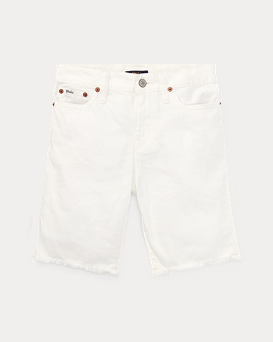 폴로 랄프로렌 보이즈 반바지 Polo Ralph Lauren Slouch Slim Fit Denim Short,Finn Wash White