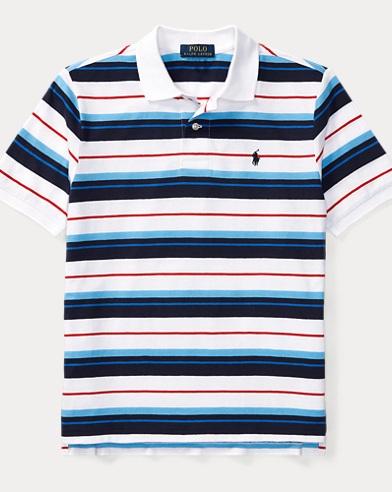 Striped Cotton Jersey Polo