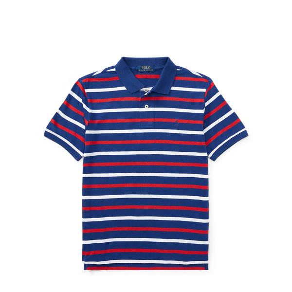Ralph Lauren Striped Cotton Jersey Polo Chalet Blue Multi S